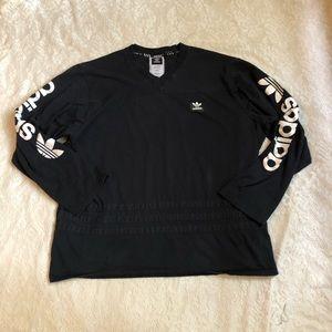Adidas trefoil long sleeve climalite logo shirt